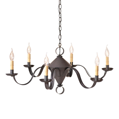 Irvin's Tinware Public House Chandelier Finished In Kettle Black