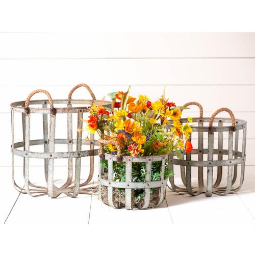Irvin's Tinware Round Basket Set