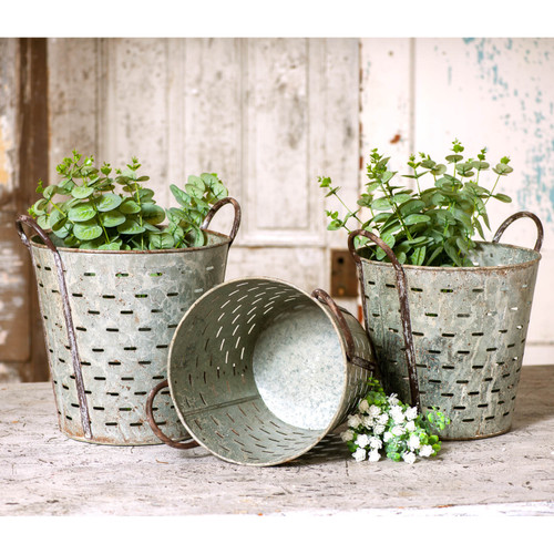 Irvin's Tinware Olive Bucket Set