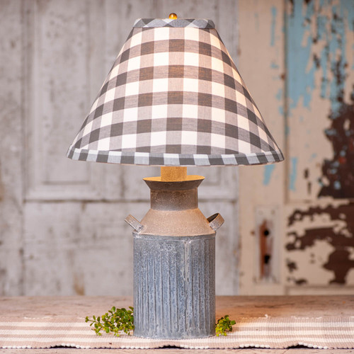 Irvin's Tinware Milk Jug Lamp with Shade