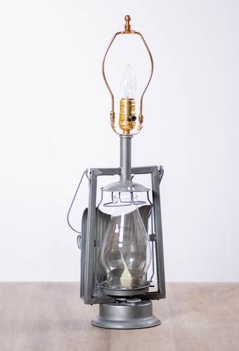 Irvin's Tinware Farmer's Lamp in Antique Tin