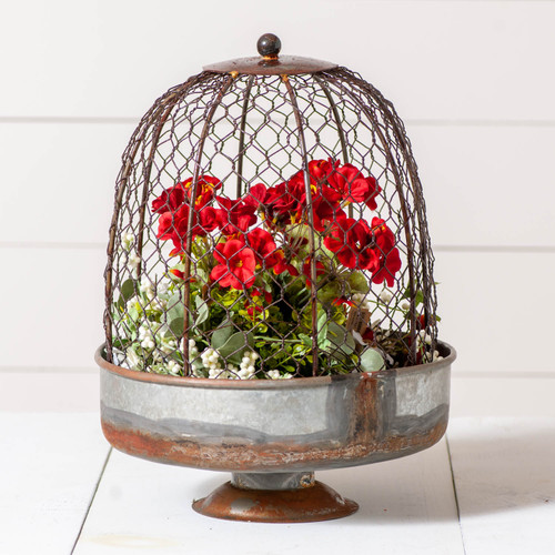 Irvin's Tinware Chicken Wire Dome Planter