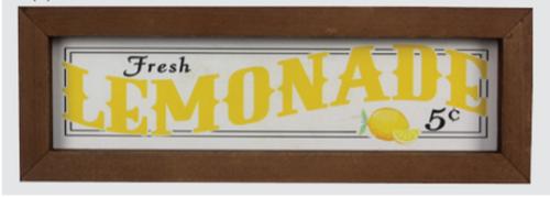 Lemonade Framed Sign