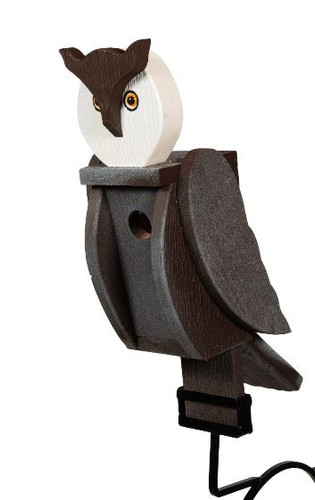 Amish handcrafted wooden birdhouse - owl