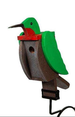 Amish Handcrafted Wood Birdhouse - Hummingbird