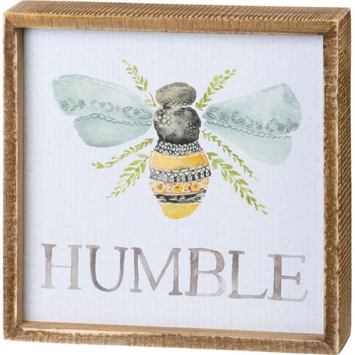 Humble Inset Box Sign