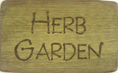 Herb Garden Wooden Sign
