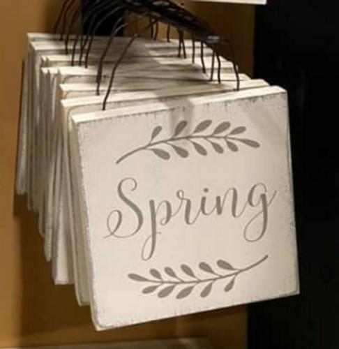Spring Plaque