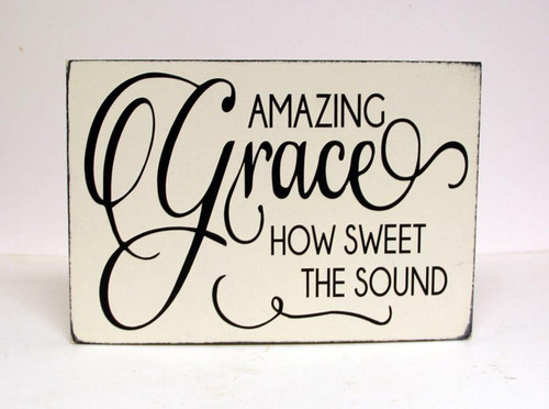 Amazing Grace Wall Sign