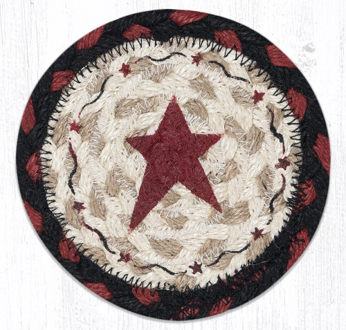 Primitive Burgundy Star Coaster