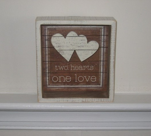 Box Sign - Two Hearts One Love
