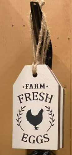 Farm Fresh Eggs Wooden Tag