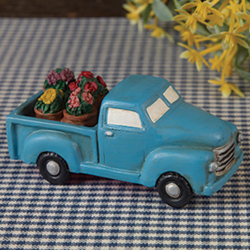 Little Blue Truck  With Flowers