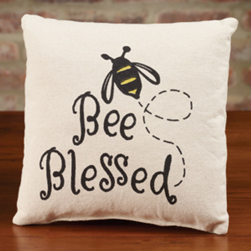 Small Canvas Bee Blessed Pillow