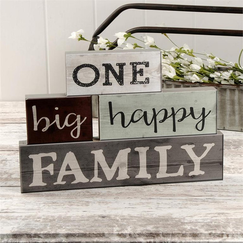 One Big Happy Family Stack Blocks