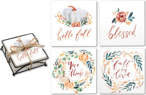 Fall Blessings Coaster Set