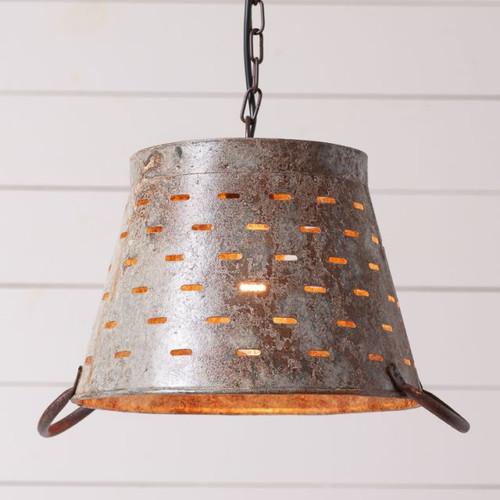 Olive Bucket Pendant Light