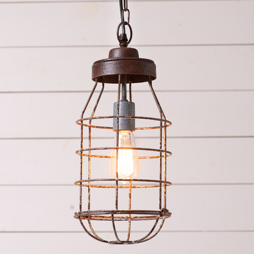 Industrial Cage Light Pendant Light
