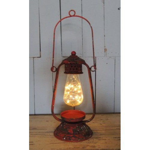 LED Red Lantern with Bulb