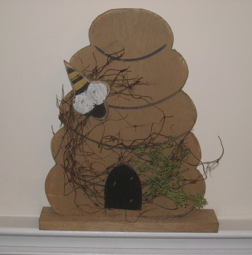 Hand Crafted Wood Beehive Stand