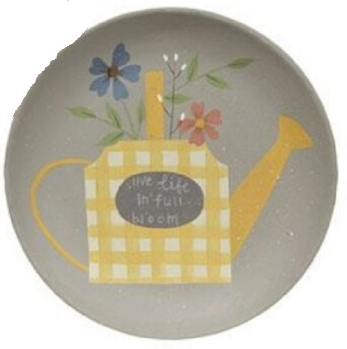 Watering Can & Flowers Plate