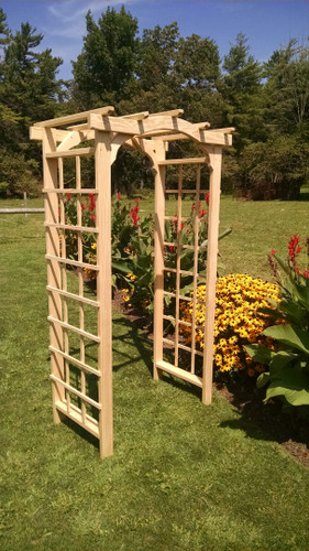 Amish Handcrafted Madison Cedar Wood Arbor Unfinished