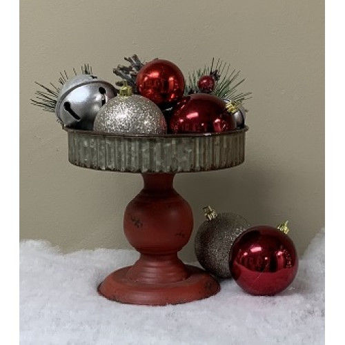 Red Base Candle Pan