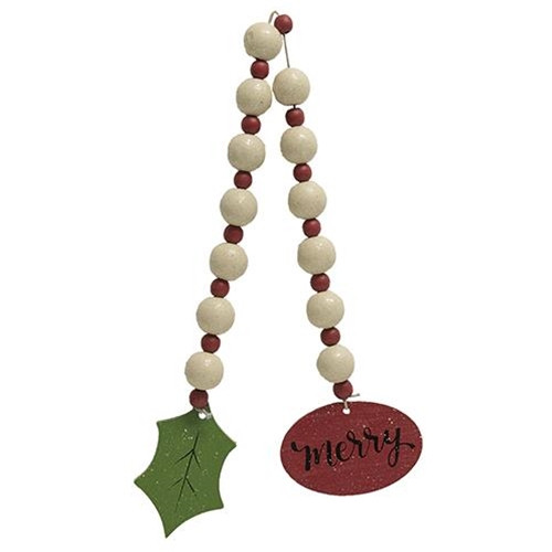 Beaded Merry Tag