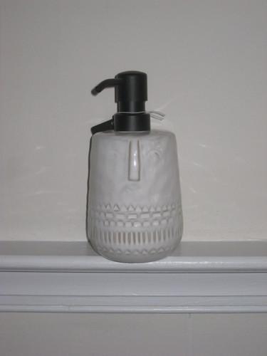 White Smiley Face Soap Dispenser