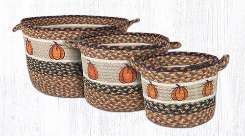 Earth Rugs™ Braided Jute Utility Basket: Harvest Pumpkin