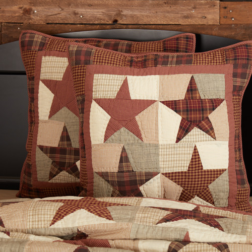 Abilene Star Quilted Euro Sham by VHC Brands