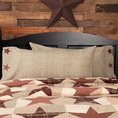 Abilene Star King Pillow Case Set by VHC Brands