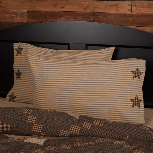 Farmhouse Star Pillow Case Set by VHC Brands