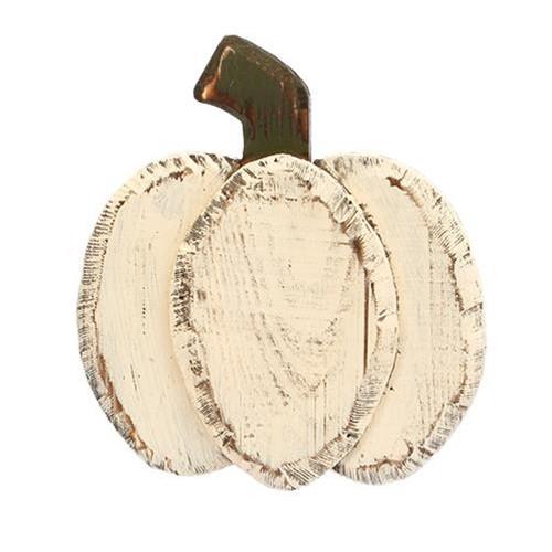 Harvest Tabletop Pumpkin - White