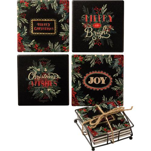 Merry Christmas Coaster Set