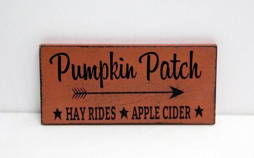Pumpkin Patch Wood Sign