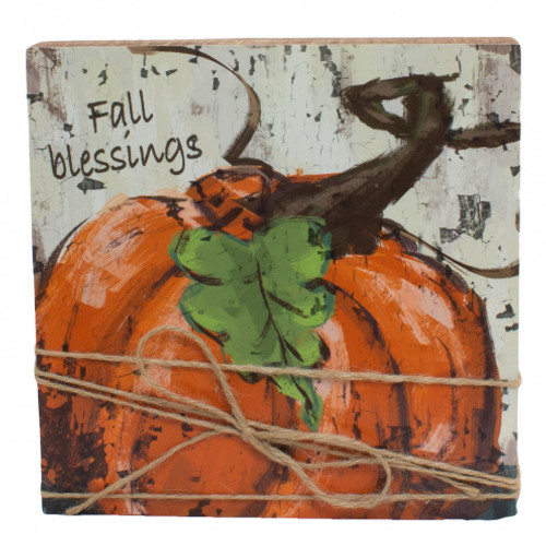 Fall Blessings Wall Plaque