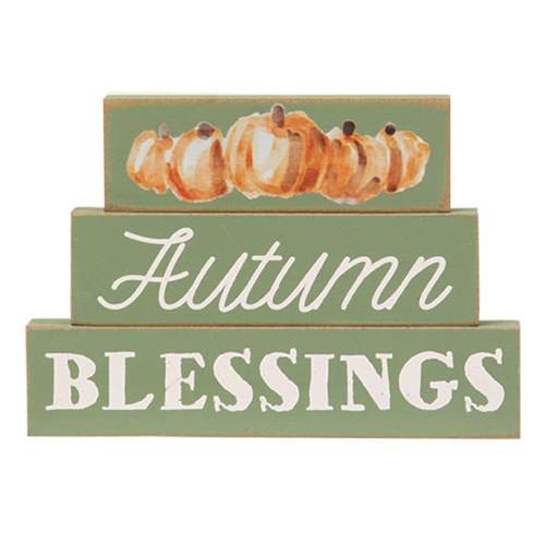 Autumn Blessings Pumpkin Stacked Blocks
