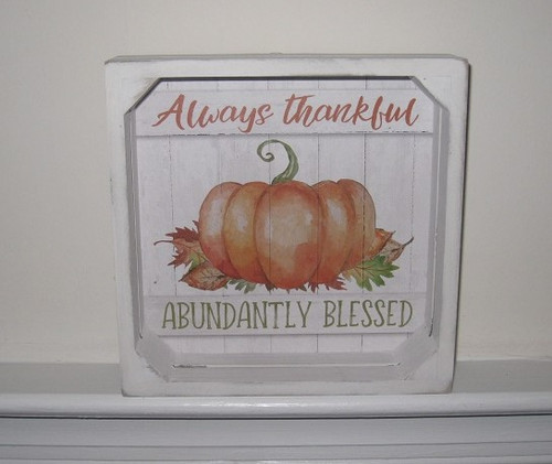 Abundantly Blessed Crate Sign