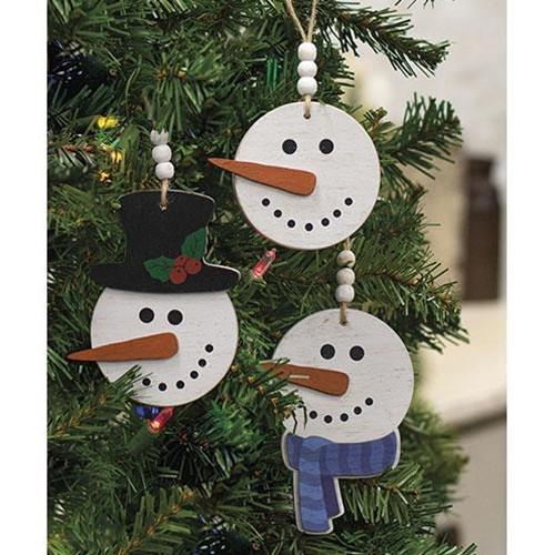 Happy Beaded Snowhead Ornament