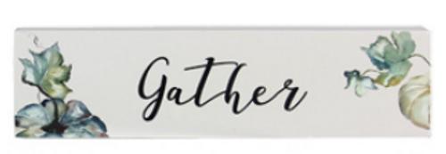 Gather Block Sign