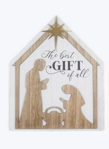 Best Gift Nativity Table Top Sign