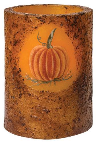 Burnt Mustard Pumpkin Timer Pillar