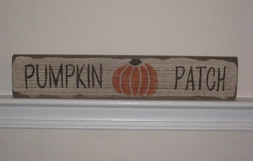 Pumpkin Patch Wooden Sign