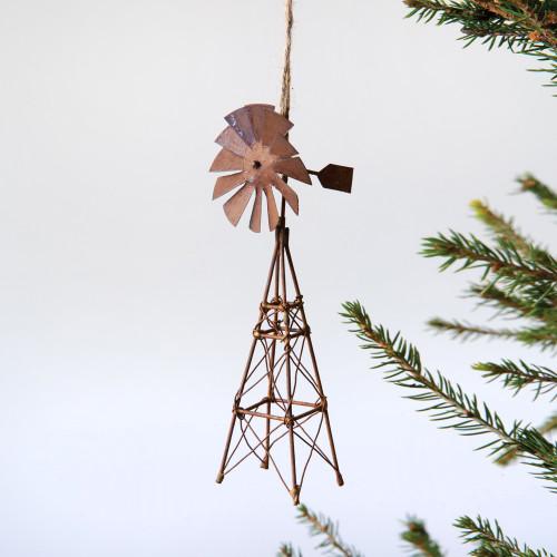 Rustic Windmill Ornament