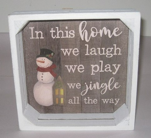 We Laugh We Play Crate Sign
