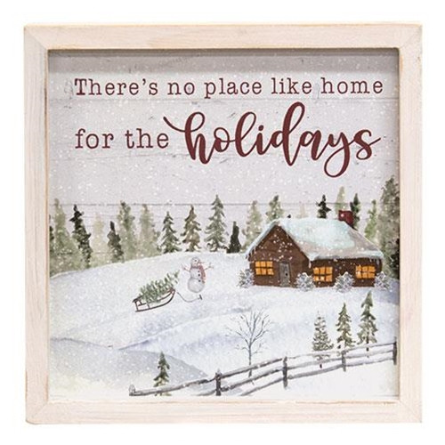 Home For the Holidays Framed Sign