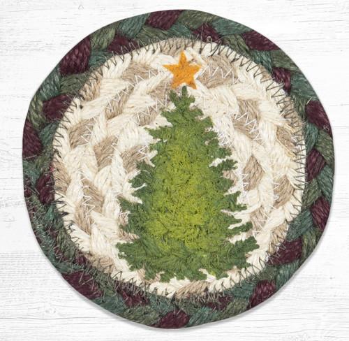Christmas Joy Tree Braided Coaster