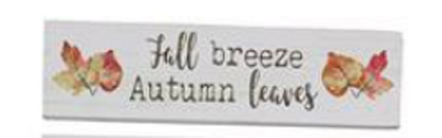 Fall Breeze Autumn Leaves Tabletop Sign