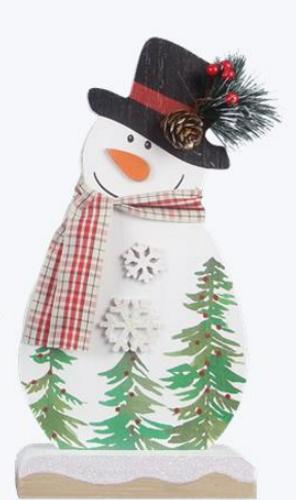 Wood Tabletop Snowman